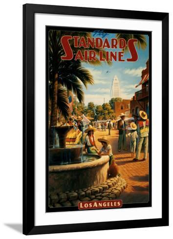 Standard Airlines, Los Angeles, California-Kerne Erickson-Framed Art Print
