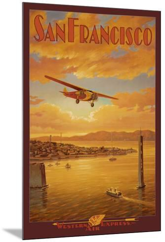 Western Air Express, San Francisco, California-Kerne Erickson-Mounted Art Print