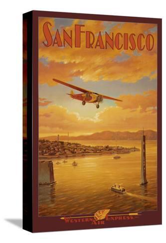 Western Air Express, San Francisco, California-Kerne Erickson-Stretched Canvas Print