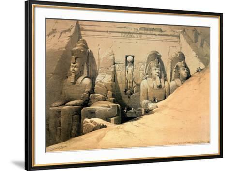 Temple of Abou Simbel-David Roberts-Framed Art Print