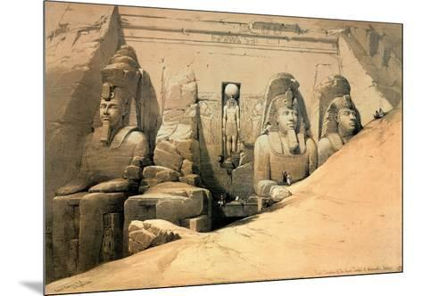 Temple of Abou Simbel-David Roberts-Mounted Art Print