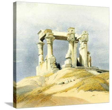 Temple of Wady Kardassy-David Roberts-Stretched Canvas Print
