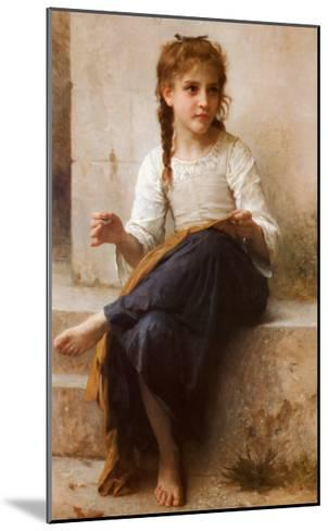 The Young Seamstress-William Adolphe Bouguereau-Mounted Art Print