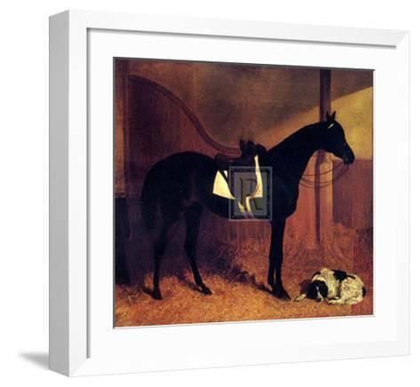 Askar and Roger in a Loose Box-John Frederick Herring I-Framed Art Print