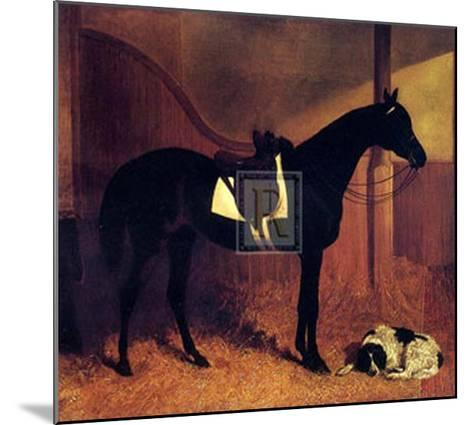 Askar and Roger in a Loose Box-John Frederick Herring I-Mounted Art Print