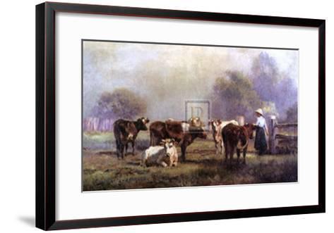 Early Morning Milking-J^ Scheltema-Framed Art Print