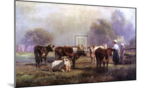 Early Morning Milking-J^ Scheltema-Mounted Art Print