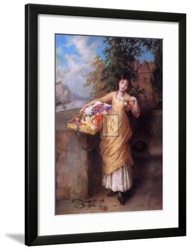 The Flower Seller-Augustus Mulready-Framed Art Print