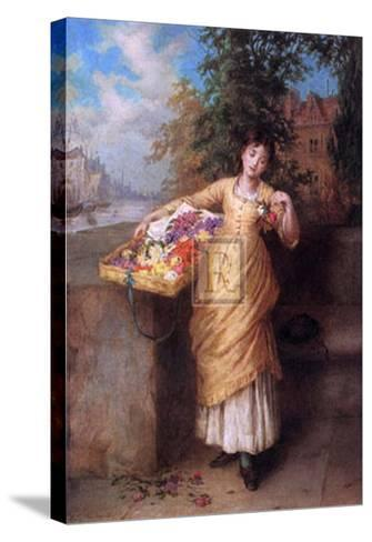 The Flower Seller-Augustus Mulready-Stretched Canvas Print