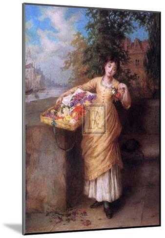 The Flower Seller-Augustus Mulready-Mounted Art Print