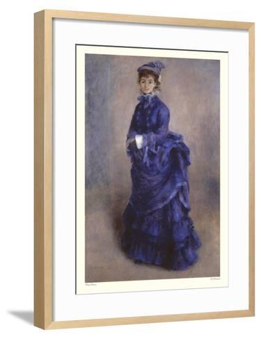 La Parisienne-Pierre-Auguste Renoir-Framed Art Print