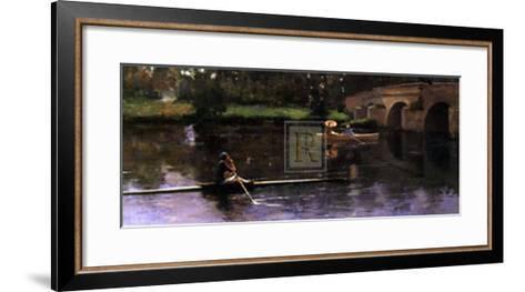 The Bridge at Grez-Sir John Lavery-Framed Art Print