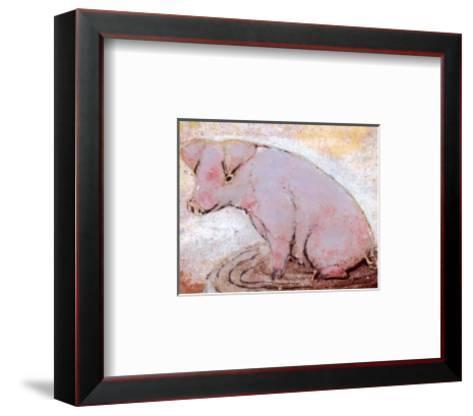 Pig-Silvana Crefcoeur-Framed Art Print