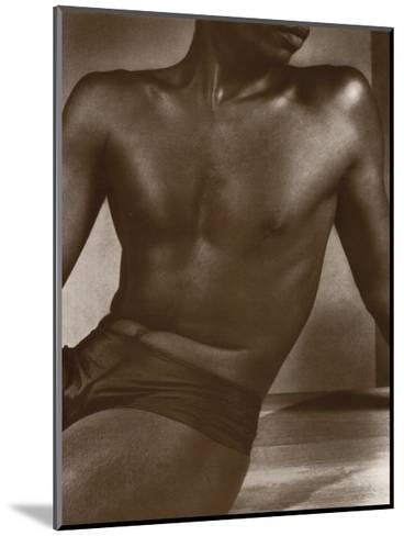 Ceylon, Male Torso-Lionel Wendt-Mounted Art Print