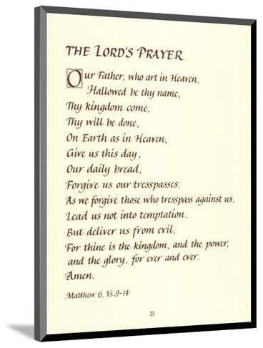 The Lord's Prayer--Mounted Art Print
