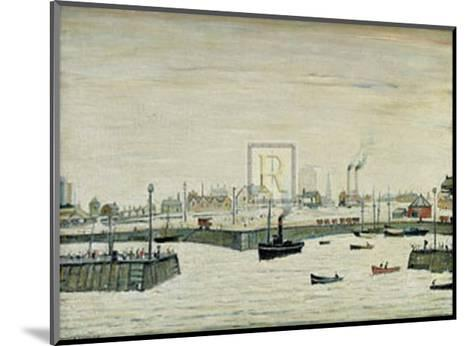 The Harbour-Laurence Stephen Lowry-Mounted Art Print