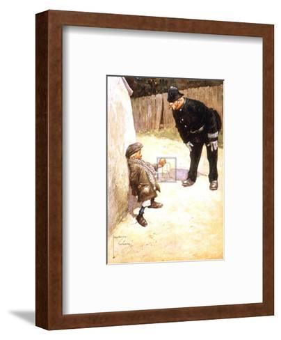 Bribery-Lawson Wood-Framed Art Print