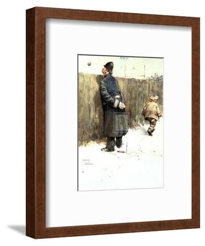 Great Game-Lawson Wood-Framed Art Print