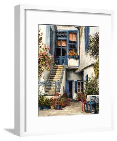 Courtyard Garden-William Mangum-Framed Art Print