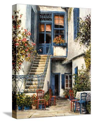 Courtyard Garden-William Mangum-Stretched Canvas Print