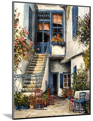 Courtyard Garden-William Mangum-Mounted Art Print