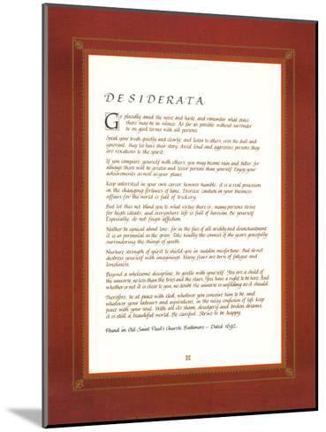 Desiderata--Mounted Art Print