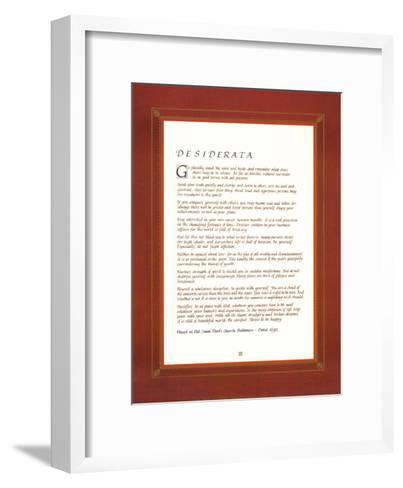 Desiderata--Framed Art Print