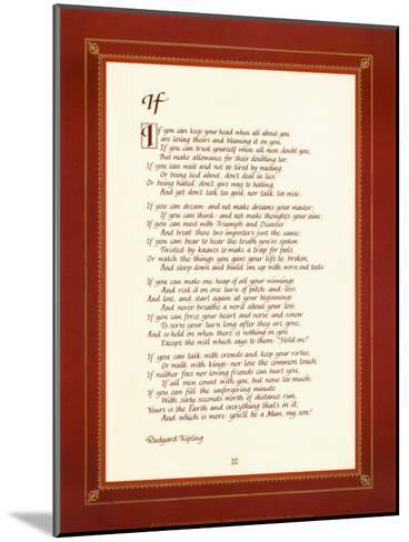 If-Rudyard Kipling-Mounted Art Print
