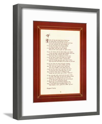 If-Rudyard Kipling-Framed Art Print