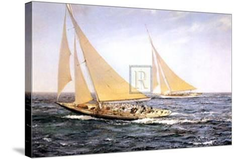 The Greatest Race-Montague Dawson-Stretched Canvas Print