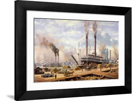 New Orleans-Roy Cross-Framed Art Print