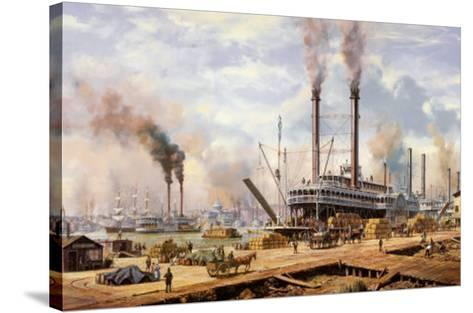 New Orleans-Roy Cross-Stretched Canvas Print