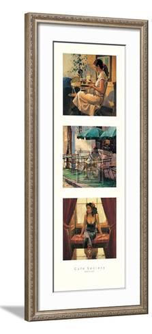 Cafe Society II-Raymond Leech-Framed Art Print