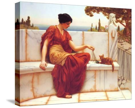 Time to Play-John William Godward-Stretched Canvas Print