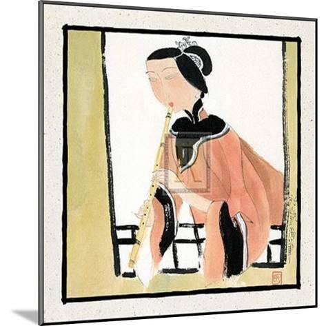 Playing a Flute-H^ Yongkai-Mounted Art Print