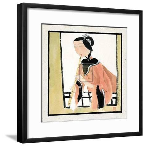 Playing a Flute-H^ Yongkai-Framed Art Print