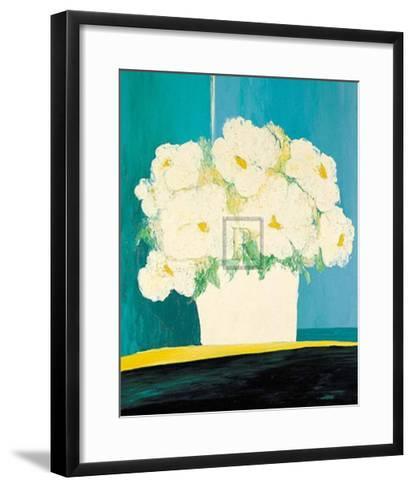 Fleurs Blanches au Pot Blanc-B^ Payet-Framed Art Print