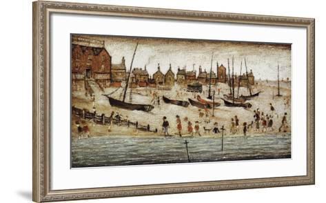 The Beach-Laurence Stephen Lowry-Framed Art Print