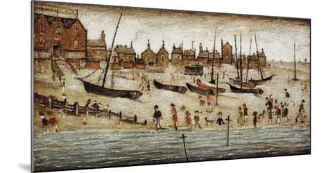 The Beach-Laurence Stephen Lowry-Mounted Art Print