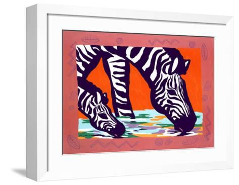 Young Zebra-Gerry Baptist-Framed Art Print