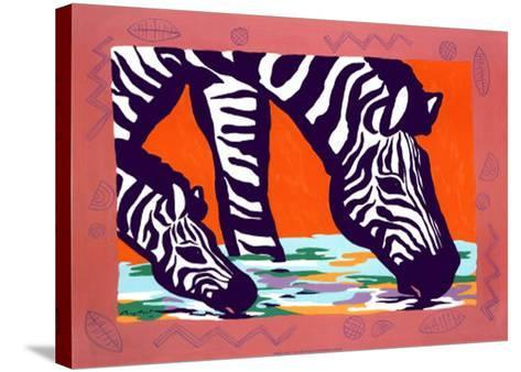 Young Zebra-Gerry Baptist-Stretched Canvas Print