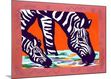 Young Zebra-Gerry Baptist-Mounted Art Print