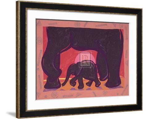 Young Elephant-Gerry Baptist-Framed Art Print