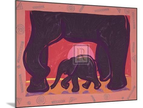Young Elephant-Gerry Baptist-Mounted Art Print