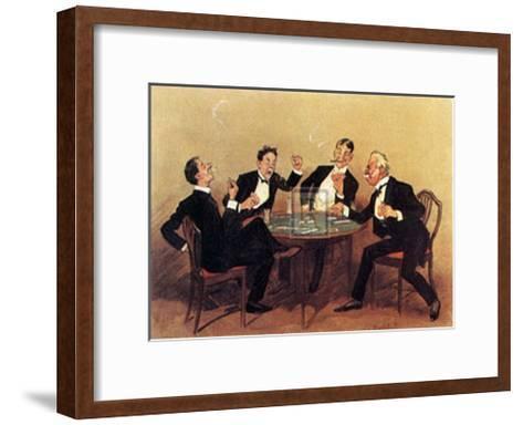 Who Doubled No Trumps?-Leonard Raven-hill-Framed Art Print