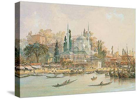 Scutari-Eugene Napoleon Flandin-Stretched Canvas Print