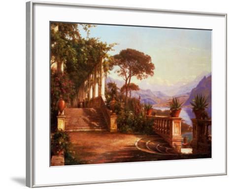 Lodge on Lake Como-Carl Frederic Aagaard-Framed Art Print