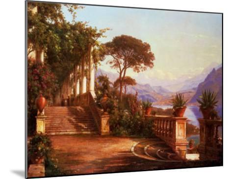 Lodge on Lake Como-Carl Frederic Aagaard-Mounted Art Print
