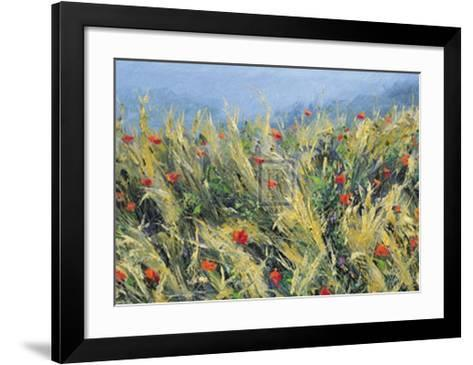 Wind-Blown Poppies-Gordon Breckenridge-Framed Art Print