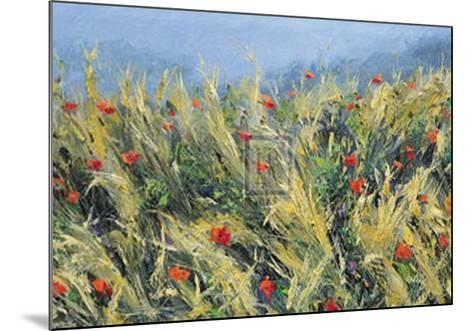 Wind-Blown Poppies-Gordon Breckenridge-Mounted Art Print
